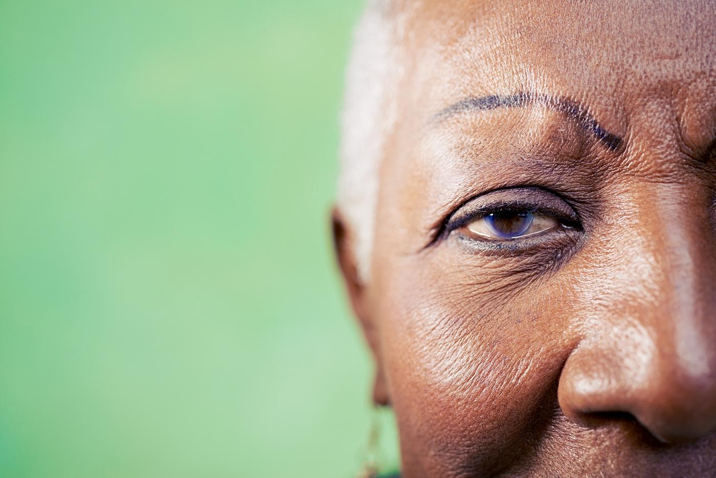 face of an elderly black woman