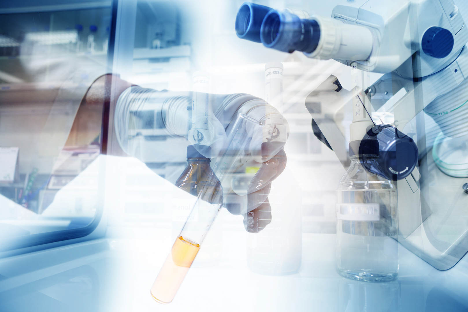 pharma research in a lab