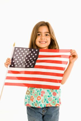 girl-and-flag