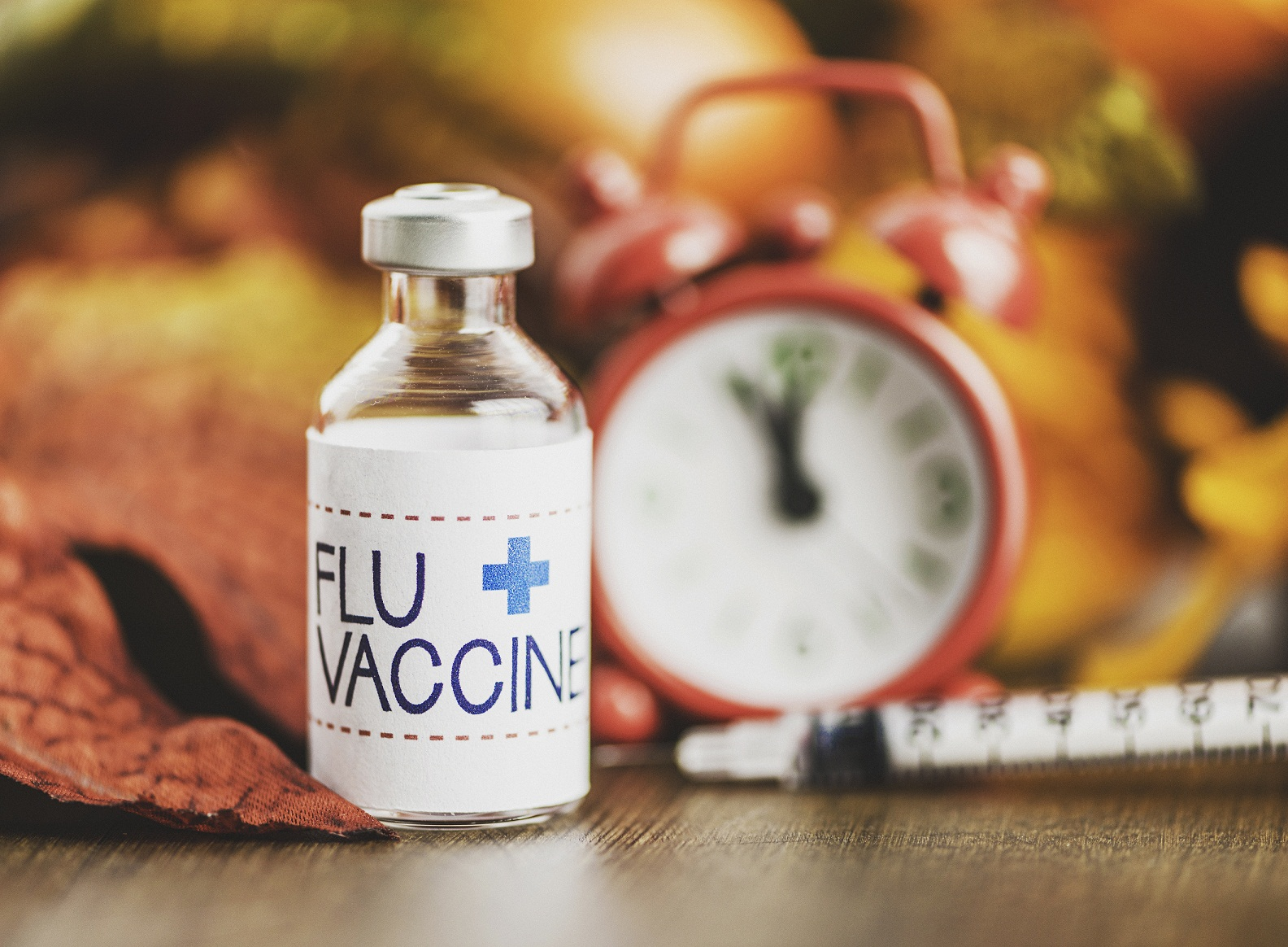influenza vaccine and clock