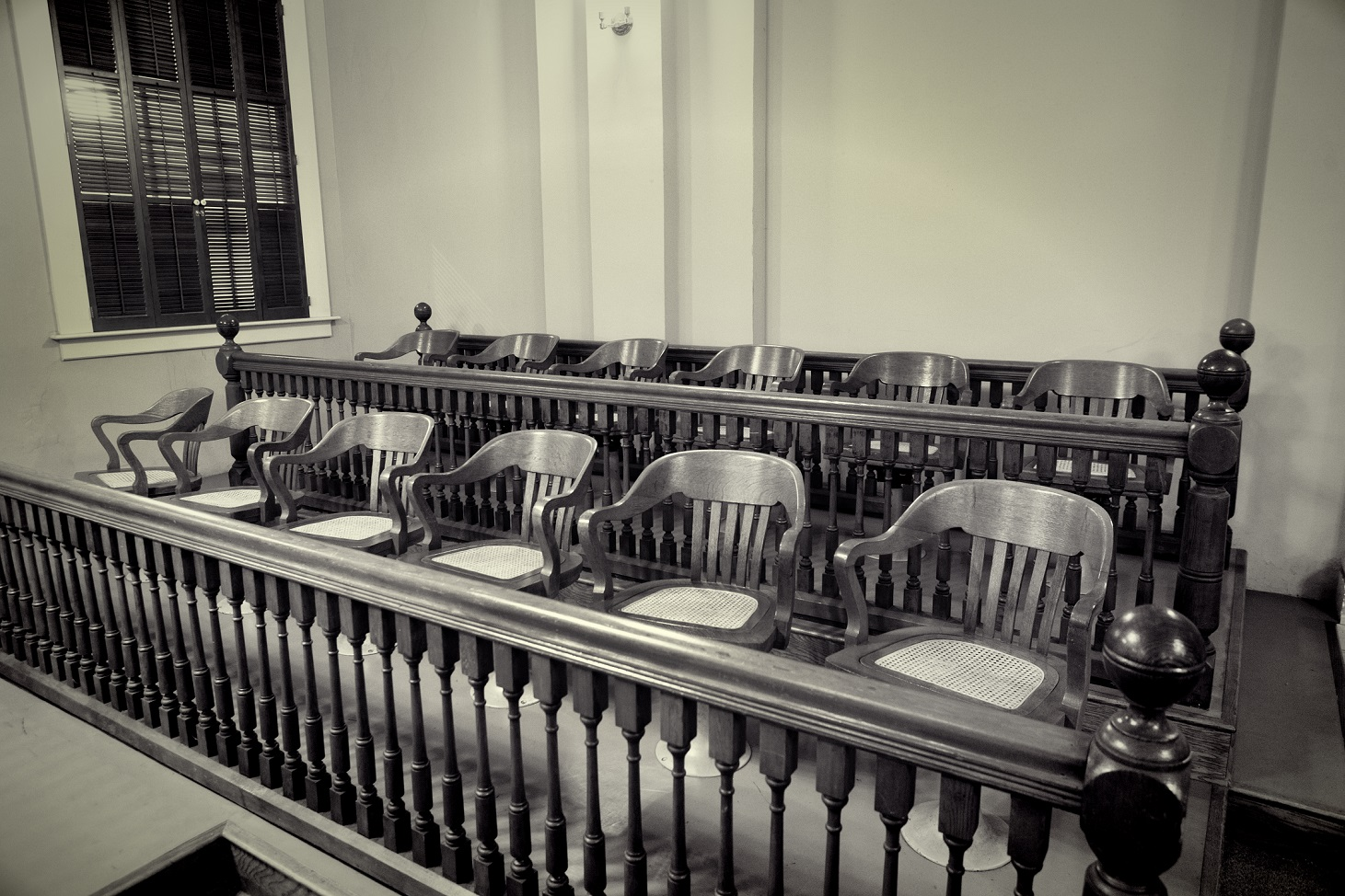 empty jury chairs