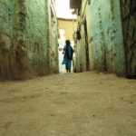 Indian girl in alley