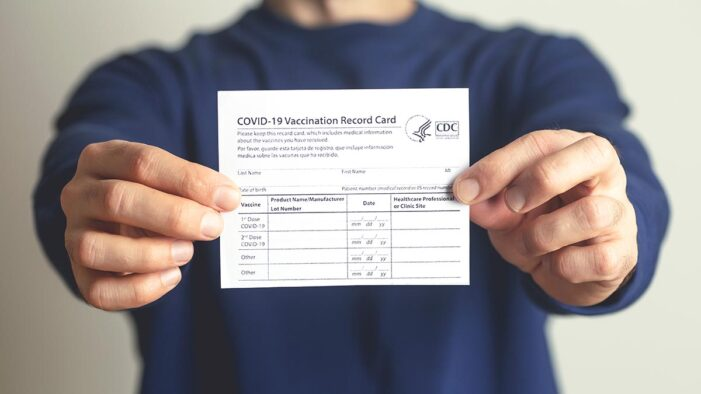 Fake COVID-19 Vaccination Cards a Cottage Industry